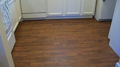 Darker Wood Kitchen Vinyl