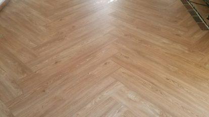 Diagonal Vinyl Empty Room