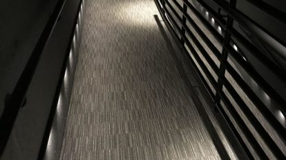 Gray Illuminated Hallway