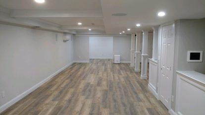 Gray Wood Vinyl Empty Room